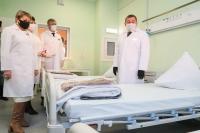 Андрей Бочаров: «Новый современный госпиталь дает нам дополнительную возможность повысить качество оказания медпомощи больным с коронавирусом и внебольничными пневмониями»