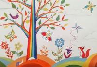 Волгоградские студенты подарили пациентам детской поликлиники веселое дерево