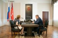 Андрей Бочаров провел рабочую встречу с Ириной Бочковой