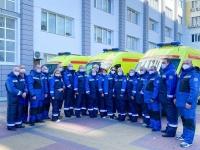 Сотрудники отделения экстренной консультативной медицинской помощи и медицинской эвакуации ГУЗ «ГКБСМП № 25» (Санитарная Авиация) получили новые комплекты зимней спецодежды