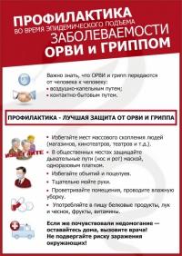 Рекомендации по профилактике ОРВИ и гриппа