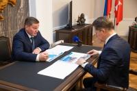 Развитие системы здравоохранения Волгоградской области: Михаил Мурашко и Андрей Бочаров провели рабочую встречу