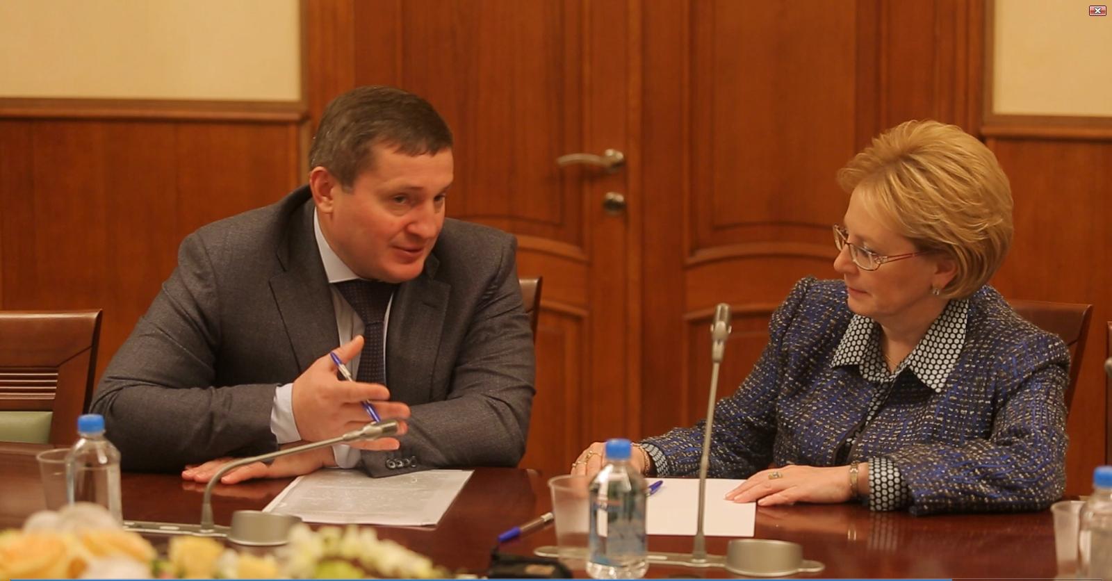 Андрей Бочаров обсудил развитие волгоградской медицины с главой Минздрава РФ Вероникой Скворцовой