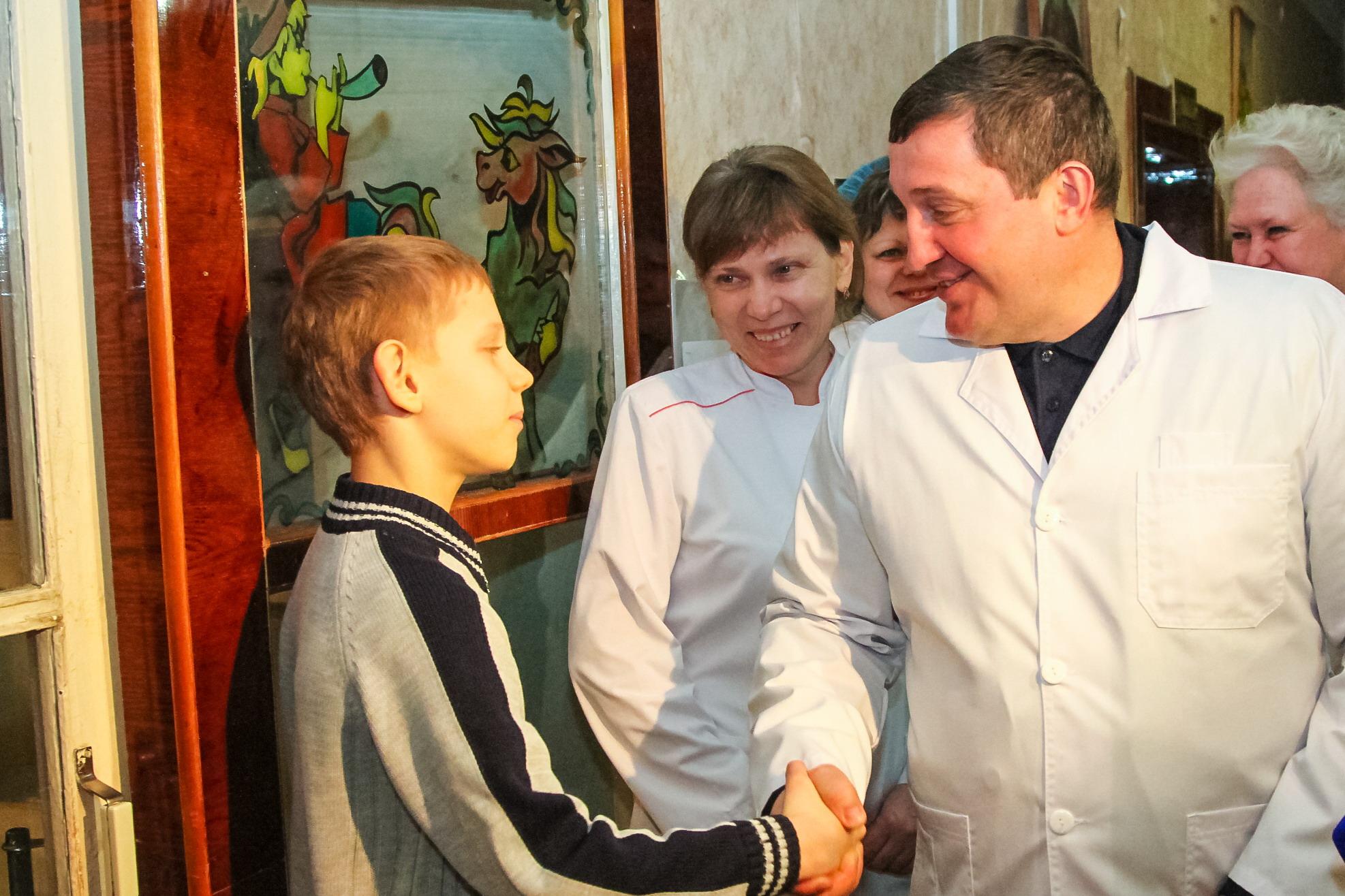 Андрей Бочаров провел рабочие встречи в Урюпинске