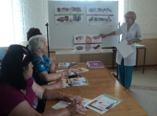 В ГБУЗ «Фроловская ЦРБ» состоялось очередное заседание школы пациентов с сахарным диабетом